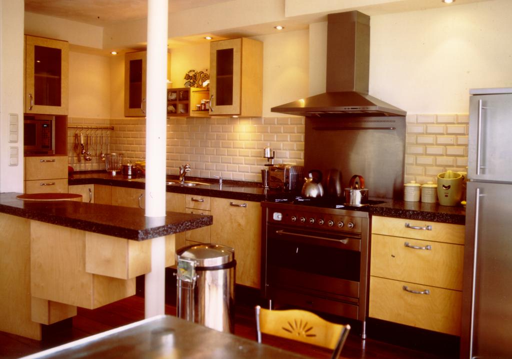 Keuken met pilaar 1 een meubelmaker - Keuken in i ...